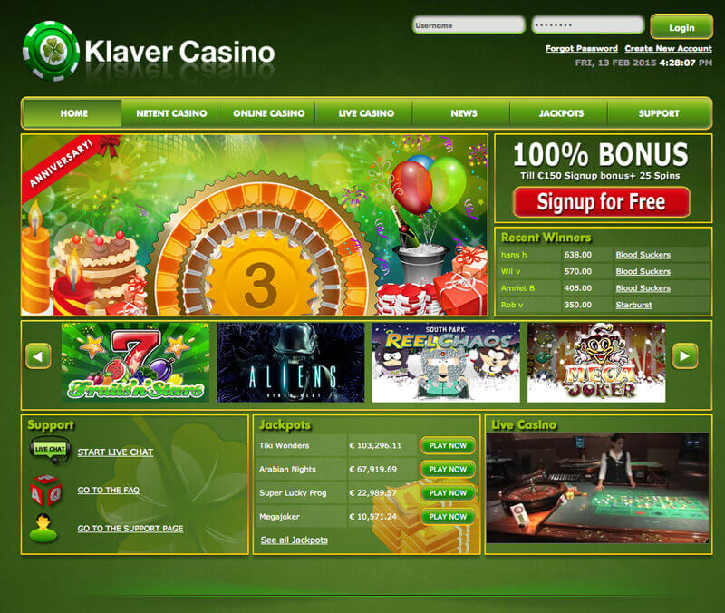 Klaver casino uitbetalen popular casinos in vegas